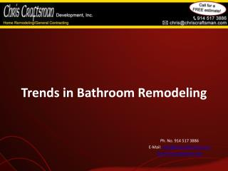 Trends in Bathroom Remodeling