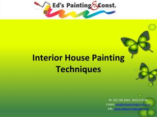 Interior House Painting Techniques