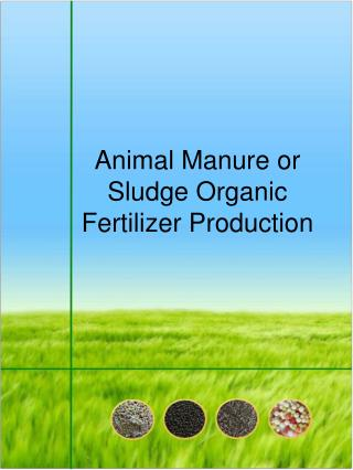 Animal Manure or Sludge Organic Fertilizer Production