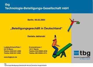 Tbg Technologie-Beteiligungs-Gesellschaft mbH