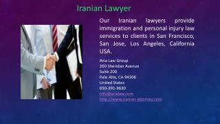 Iranian lawyer attorney
