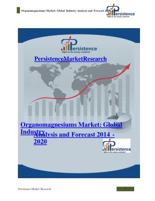 Organomagnesiums Market: Global Industry Analysis and Foreca
