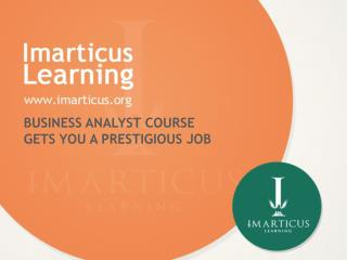 Business analyst course gets you a prestigious job