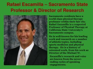 Rafael Escamilla – Sacramento State Professor & Director
