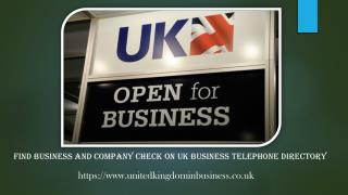 Find business and company check on UK business telephone dir