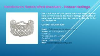 Handwoven Handcrafted Bracelets