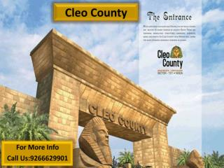 Cleo County Sector 121 - Cleo County Noida
