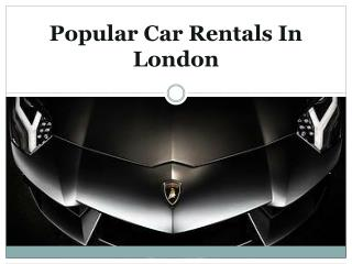 Car Rentals for vip clients