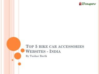 Top 5 bike car accessories websites