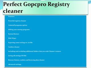 Gopcpro Registry Cleaner and Windows Optimizers