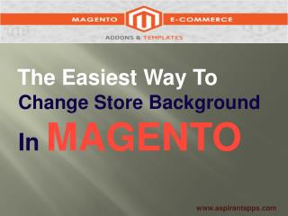Magento Background Photo Extension