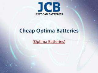 Cheap Optima Batteries