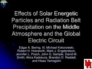 Effects of Solar Energetic Particles and Radiation Belt Precipitation on the Middle Atmosphere and the Global Electric C