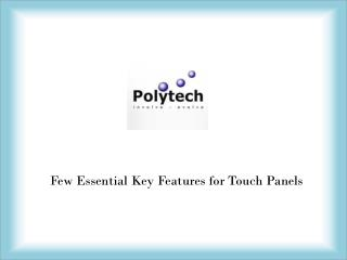 Touch Panel Manufacturers