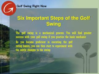 Six Important Steps of the Golf Swing