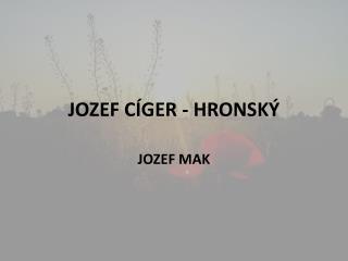 JOZEF C GER - HRONSK