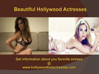 Most Beautiful Actress in Hollywood