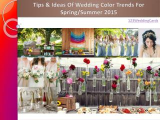 Tips & Ideas Of Wedding Color Trends For Spring/Summer 2015
