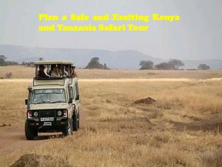 Plan a Safe and Exciting Kenya and Tanzania Safari Tour
