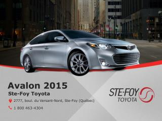 Toyota Avalon 2015 � Qu�bec - Un v�hicule �co�nerg�tique