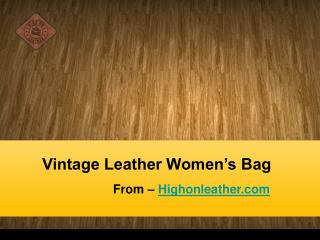 Ladies Leather Messenger Bags