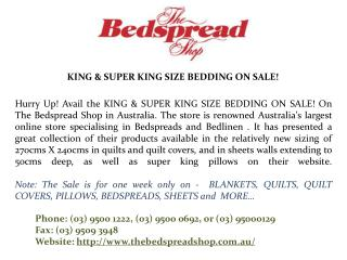 King & Super King Size Bedding on Sale!