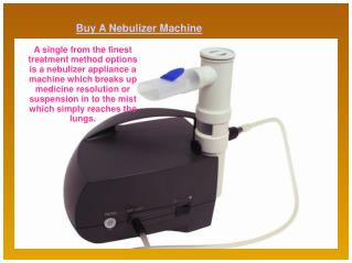 Buy A Nebulizer Machine