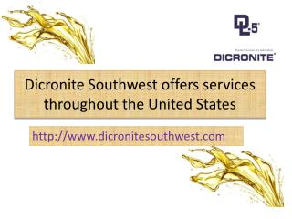 Dicronite Southwest Supplies Authentic Dry Lubricants in USA