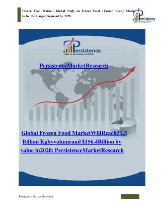 Frozen Food Market - Global Report on Frozen Food to 2020