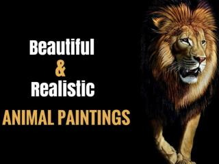 Beautiful and Realistic Animal Paintings