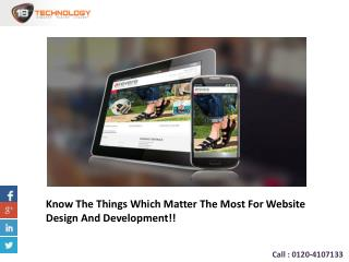 Know The Things Which Matter The Most For Website Design And