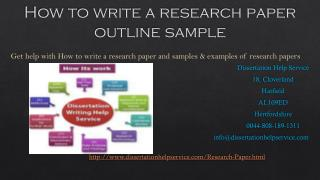 How to write a research paper outline sample