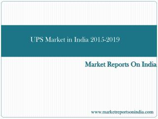 UPS Market in India 2015-2019