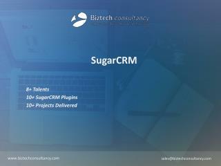 SugarCRM Brochure - Biztech Consultancy