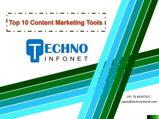 Top 10 Content Marketing Tools
