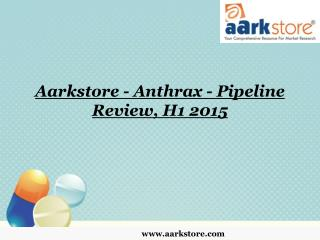 Aarkstore - Anthrax - Pipeline Review, H1 2015