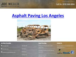 Asphalt Paving Los Angeles