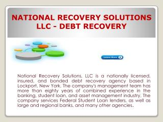 National Recovery Solutions LLC