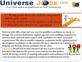Job Search Engines - Apply For Jobs Online