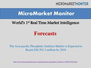 The Asia-pacific Phosphatic fertilizer Market is Expected to