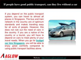 If people have good public transport, can they live without