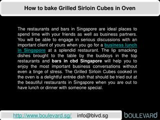 How to bake Grilled Sirloin Cubes in Oven