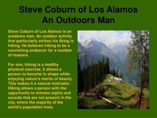 Steve Coburn Los Alamos