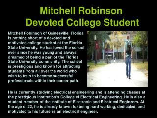 Mitchell Robinson Devoted College Student