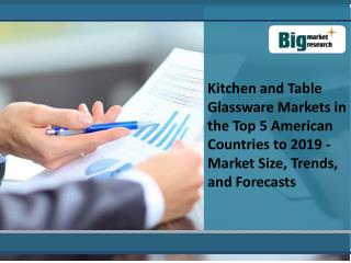 Kitchen and Table Glassware Market Size, Trends, Forecasts