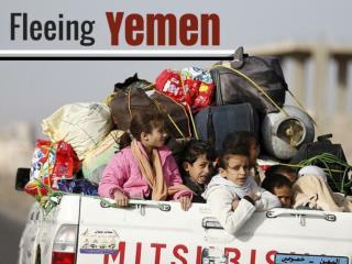 Fleeing Yemen