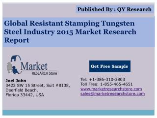 Global Resistant Stamping Tungsten Steel Industry 2015 Marke