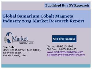 Global Samarium Cobalt Magnets Industry 2015 Market Analysis