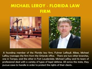 MICHAEL LEROY - FLORIDA LAW FIRM_PPT