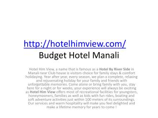 budget hotel in manali mall road for honeymoon